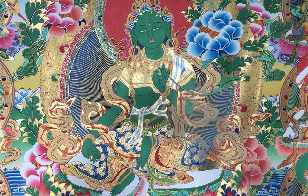 vajrayana-green-tara-thanka-detail